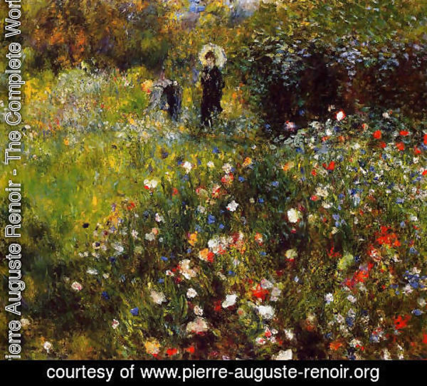 Pierre Auguste Renoir - Summer Landscape Aka Woman With A Parasol In A Garden