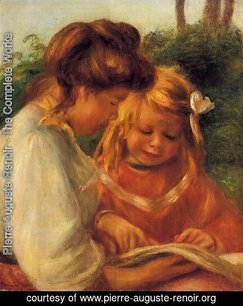 Pierre Auguste Renoir - The Alphabet Aka Jean And Gabrielle
