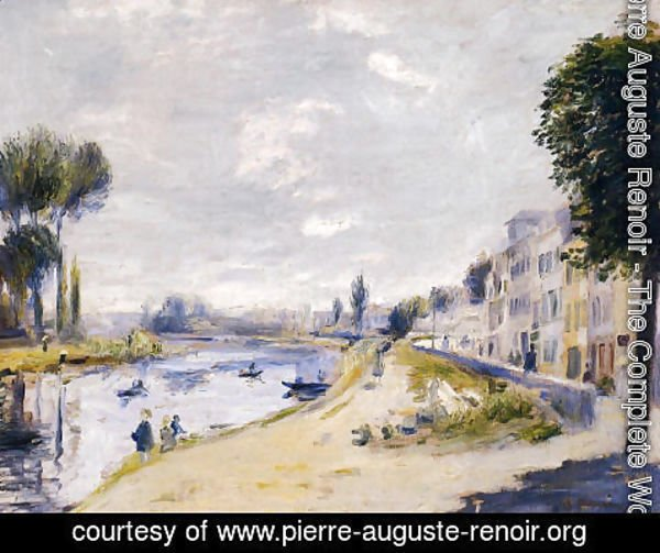 Pierre Auguste Renoir - The Banks Of The Seine  Bougival