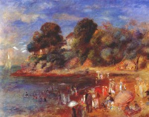 Pierre Auguste Renoir - The Beach At Purnic