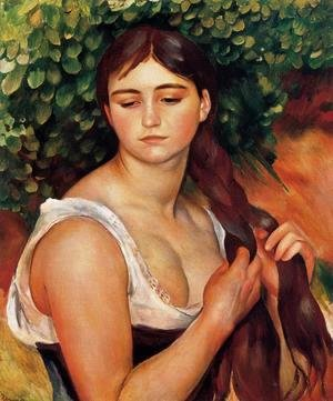 Pierre Auguste Renoir - The Braid Aka Suzanne Valadon