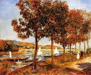 Pierre Auguste Renoir - The Bridge At Argenteuil In Autumn