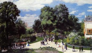 Pierre Auguste Renoir - The Champs Elysees During The Paris Fair Of 1867