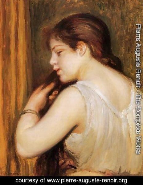 Pierre Auguste Renoir - The Coiffure Aka Young Girl Combing Her Hair