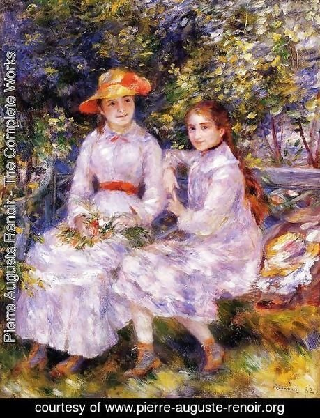 Pierre Auguste Renoir - The Daughters Of Paul Durand Ruel Aka Marie Theresa And Jeanne