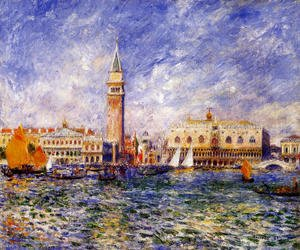 Pierre Auguste Renoir - The Doges Palace  Venice