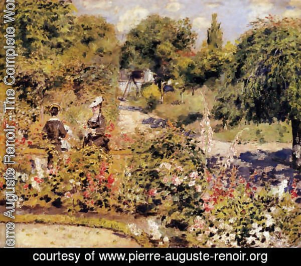 Pierre Auguste Renoir - The Garden At Fontenay