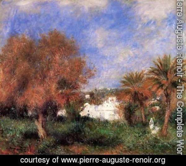 Pierre Auguste Renoir - The Garden Of Essai In Algiers
