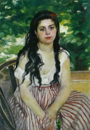 Pierre Auguste Renoir - The Gypsy Girl Aka Summer