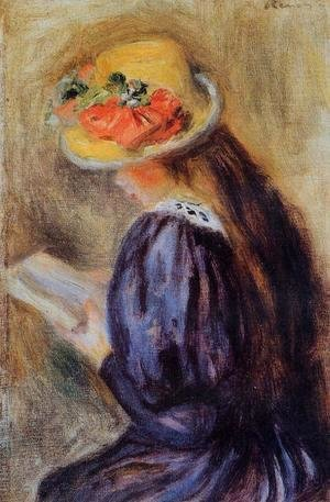 Pierre Auguste Renoir - The Little Reader Aka Little Girl In Blue