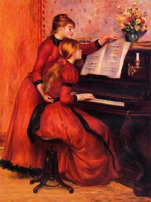 Pierre Auguste Renoir - The Piano Lesson