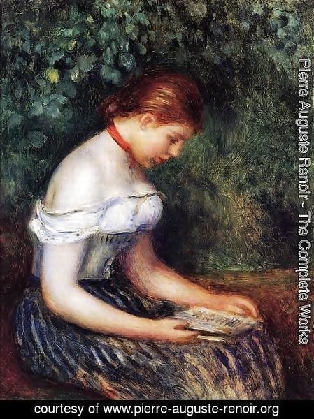 Pierre Auguste Renoir - The Reader (La Liseuse) Aka Seated Young Woman