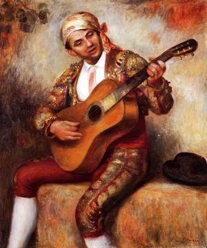 Pierre Auguste Renoir - The Spanish Guitarist