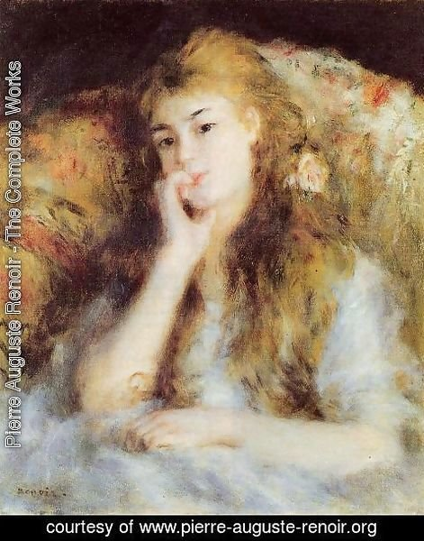 Pierre Auguste Renoir - The Thinker Aka Seated Young Woman