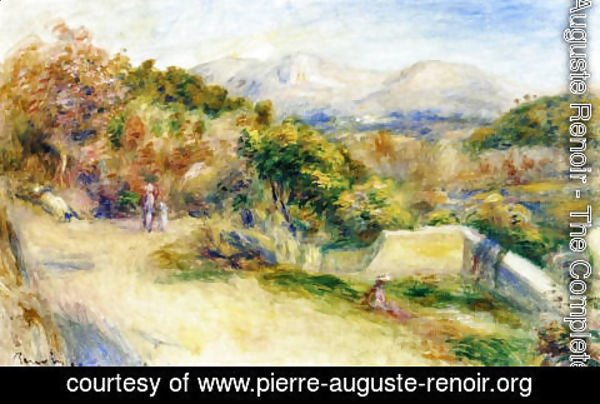 Pierre Auguste Renoir - The View From Collettes  Cagnes
