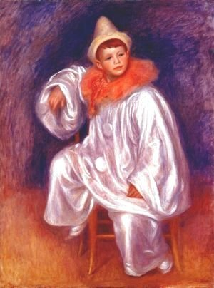 Pierre Auguste Renoir - The White Pierrot (Jean Renoir)
