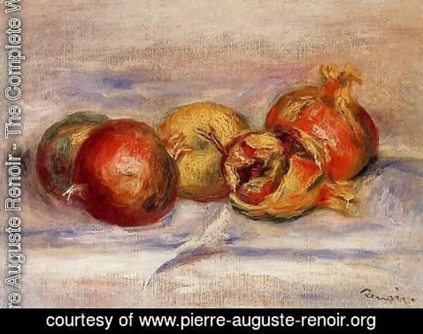 Pierre Auguste Renoir - Three Pomegranates And Two Apples