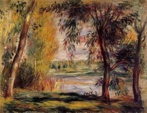 Pierre Auguste Renoir - Trees By The Water