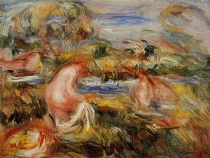 Pierre Auguste Renoir - Two Bathers In A Landscape