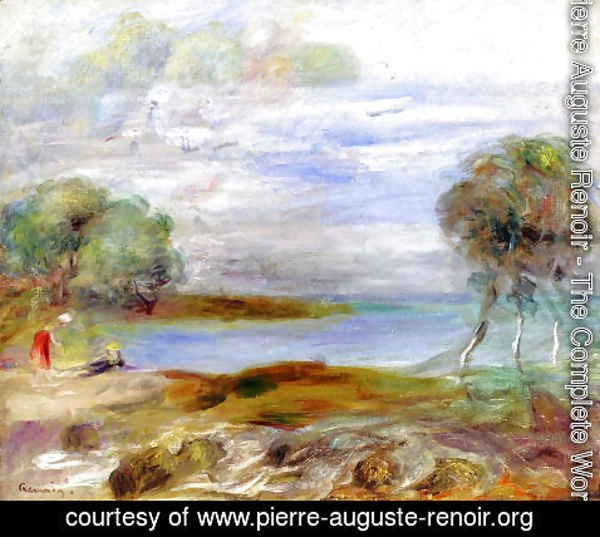 Pierre Auguste Renoir - Two Figures By The Water