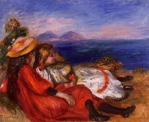 Pierre Auguste Renoir - Two Little Girls On The Beach