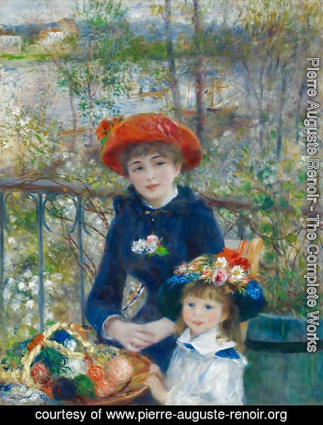 Pierre Auguste Renoir - Two Sisters Aka On The Terrace