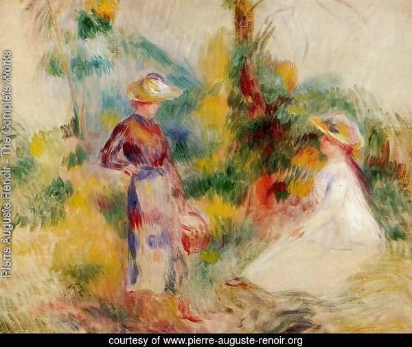 Two Women In A Garden2