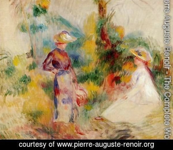 Pierre Auguste Renoir - Two Women In A Garden2