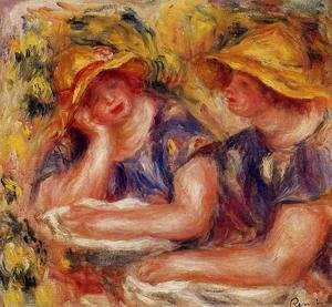 Pierre Auguste Renoir - Two Women In Blue Blouses