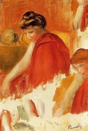 Pierre Auguste Renoir - Two Women In Red Robes