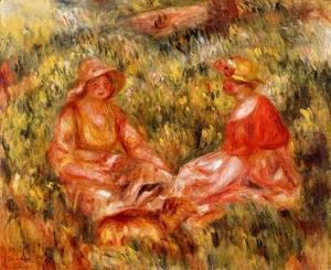 Pierre Auguste Renoir - Two Women In The Grass