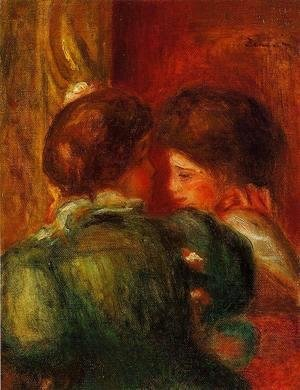 Pierre Auguste Renoir - Two Womens Heads Aka The Loge