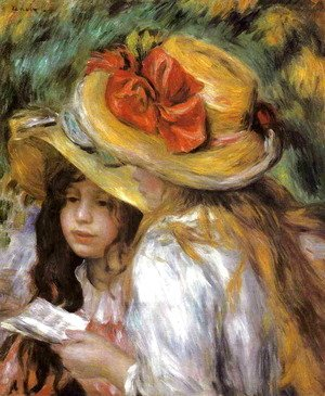 Pierre Auguste Renoir - Two Young Girls Reading