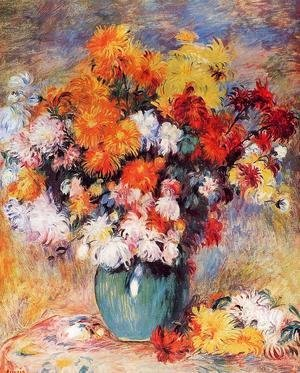 Pierre Auguste Renoir - Vase Of Chrysanthemums