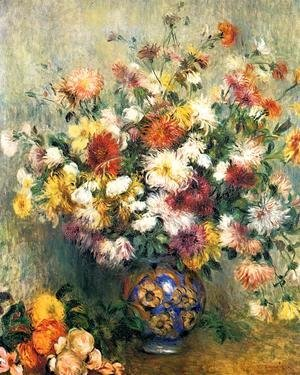 Pierre Auguste Renoir - Vase Of Chrysanthemums2