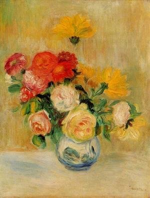 Pierre Auguste Renoir - Vase Of Roses And Dahlias5