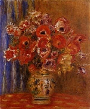 Pierre Auguste Renoir - Vase Of Tulips And Anemones