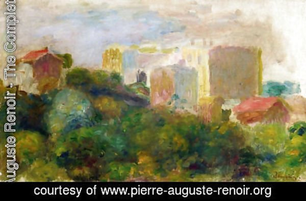 Pierre Auguste Renoir - View From Renoirs Garden In Montmartre
