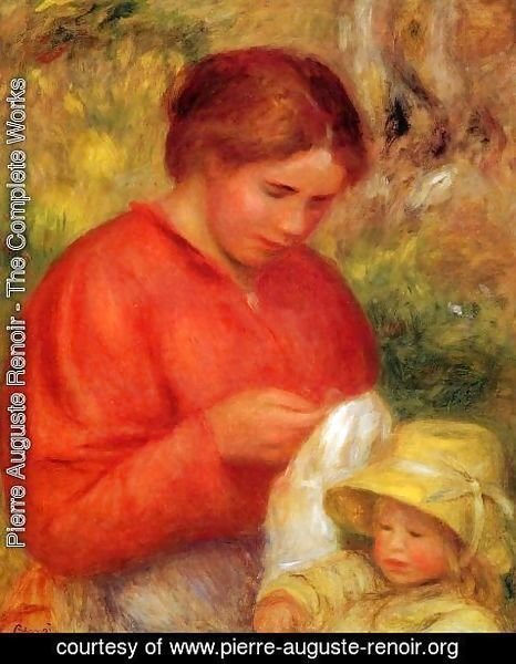 Pierre Auguste Renoir - Woman And Child