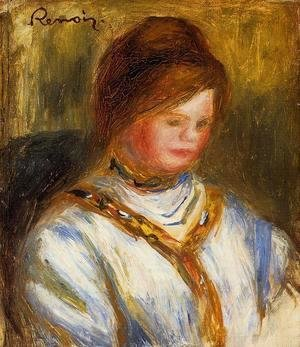 Pierre Auguste Renoir - Woman In A Blue Blouse
