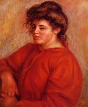 Pierre Auguste Renoir - Woman In A Red Blouse