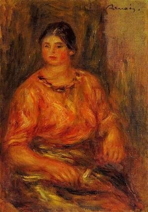 Pierre Auguste Renoir - Woman In A Red Blouse2
