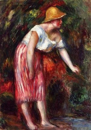 Pierre Auguste Renoir - Woman In A Straw Hat