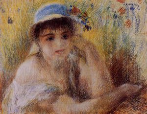 Pierre Auguste Renoir - Woman In A Straw Hat2