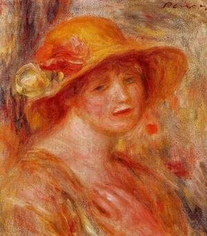 Pierre Auguste Renoir - Woman In A Straw Hat3
