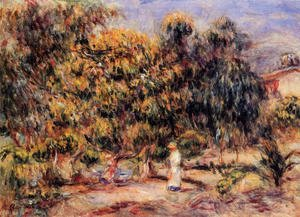 Pierre Auguste Renoir - Woman In White In The Garden At Colettes