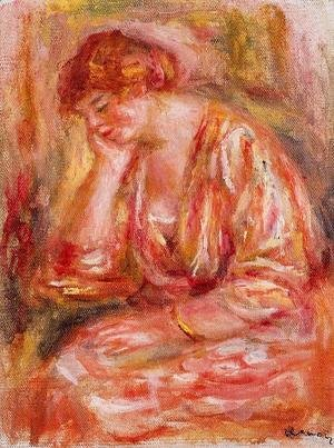 Pierre Auguste Renoir - Woman Leaning On Her Elbow