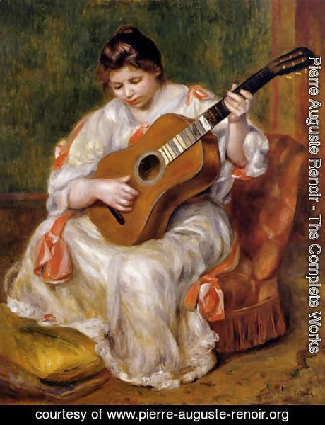 Pierre Auguste Renoir - Woman Playing The Guitar