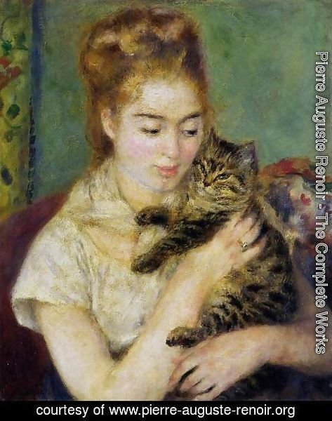 Pierre Auguste Renoir - Woman With A Cat