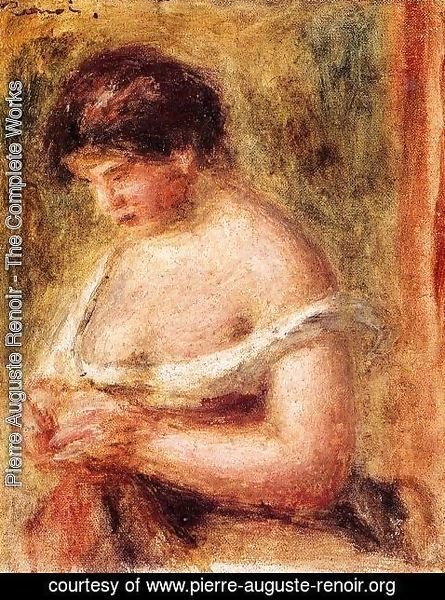 Pierre Auguste Renoir - Woman With A Corset